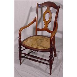 Victorian Walnut Arm Chair, Ca. 1880