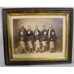 Group Photograph of 10 Men in Uniform, Civil War Era