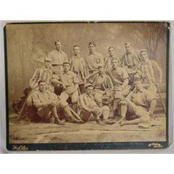 """Photo of """"Yale Baseball Team of 1889"""" Featuring Alonzo Stagg"""