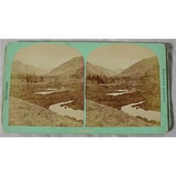 """Group of 4 Stereo View Cards Entitled """"Colorado Mtn. Scenery"""""""