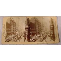 5 Stereo Views - Chicago, 19th C.