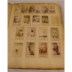 Album W/ 500+ Photographic Cigarette Cards, 19th C.