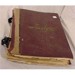 Bound Copies of Judge Magazine, Ca. 1889-1890