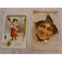 90 Lithograph Trade Cards, Late 19th C.