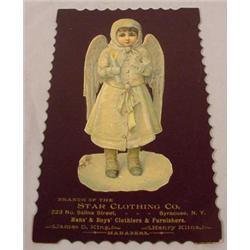 19th C. Die-Cut Chromo litho Advertising Card