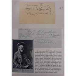Buffalo Bill Autograph on Note Card