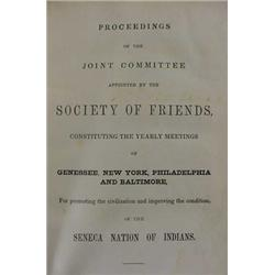 "Rare 1847 ""Seneca Nations of Indians"" Inscribed Book"