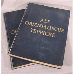 """Pair of Large Oriental Rug Books Entitled """"Alt-Orientalische Teppiche"""", Ca. 1926, 1928"""