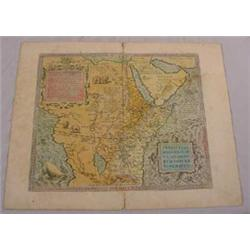 Hand Colored of North Africa & Middle East, 16-17th C.
