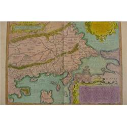 """Old World Map of """"Thracia"""", 16-17th C."""