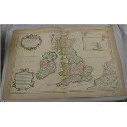 1709 Dated Map of British Isles