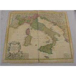 Map of Italy, 16-17th C.