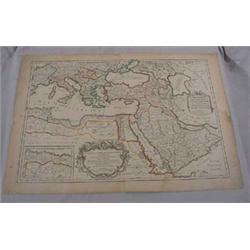 Map of Mediterranean Sea Region, 16-17th C.