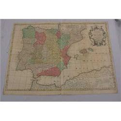 Map of Spain, 16-17th C.