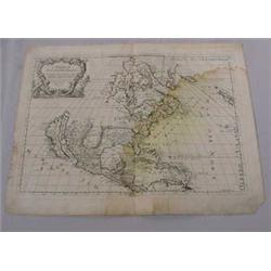 Map of New World, 16th-17th C.