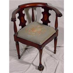 Chippendale Style Corner Chair