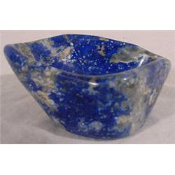 Lapis Lazuli Carved Free-Form Bowl