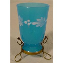Opaque Blue Glass Cup (Clam Broth Type)