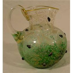 Victorian Art Glass Pitcher