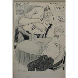 """Willard Mullen"" (1902-1978) Ink & W/C Illustration ""Big Deal"""