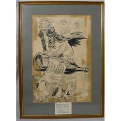 """Willard Mullen"" (1902-1978) Ink & W/C Illustration ""Hollywood Here I Come"""