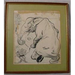 """""""Willard Mullen"""" (1902-1978) Ink & W/C Illustration """"Oh Well They May Not Make It"""""""