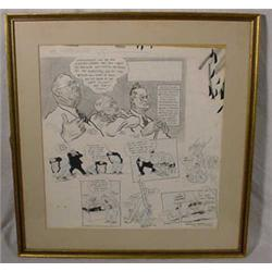"""Willard Mullen"" (1902-1978) Ink & W/C Illustration ""He Can't Hurt Us"""