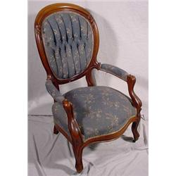 Victorian Finger Carved Gentleman's Chair