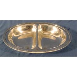 """""""Tiffany & Co."""" Sterling 2 Section Serving Dish"""