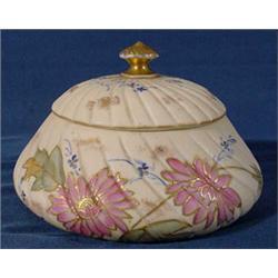 """New York & Rudolstadt"" Hand Painted Covered Jar"