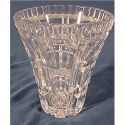Cut Crystal Wide Mouth Vase