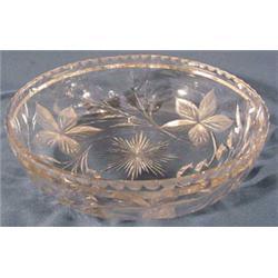 Cut Crystal Bowl in Floral Motif