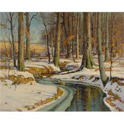 """""""Gardner Symons"""" O/C Painting of Woodland Landscape"""