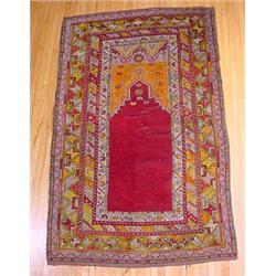 Turkish Prayer Rug, Ca. 1930