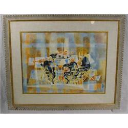"""Georges Schreiber"" (1904 - ) Signed W/C Entitled ""Quartet"""