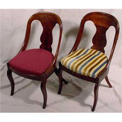 Pair of Empire Mahogany Side Chairs