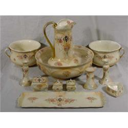 "11 Piece ""Crown Devon"" Wash Set, Ca. 1900"