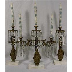 3 Piece Girondel Set, Ca. 1860