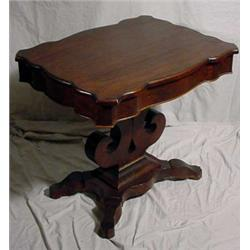 Transitional Empire/Victorian Parlor Table, Ca. 1850