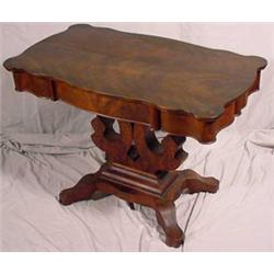 Empire/Victorian Transitional Parlor Table, Ca. 1850