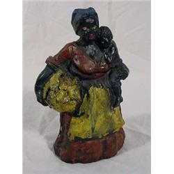 Cast Lead Figure of Mammy W/ Baby