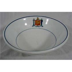 "Railroad ""O.P. Co. Syracuse China"" Bowl"