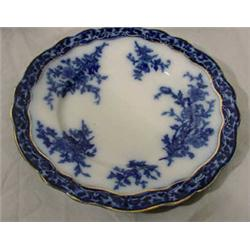 10 Flow Blue Salad Plates Touraine Pattern