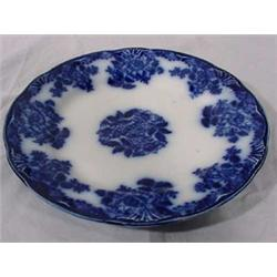 Flow Blue New Wharf, Waldorf Pattern Plate