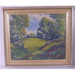 """""""Don Fraser"""" Signed O/C Painting of Landscape"""