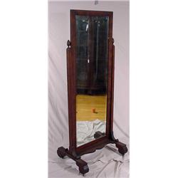 Mahogany Cheval Mirror, 2nd Period Empire
