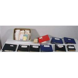 8 Albums of Stamps, Postcards & Box of Stamps