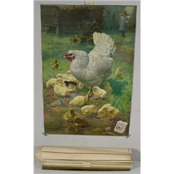 16 Matching Advertising Posters, Unused, Ca. 1900