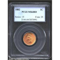 1882 1C MS64 Red PCGS.