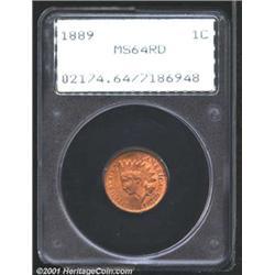 1889 1C MS64 Red PCGS.
